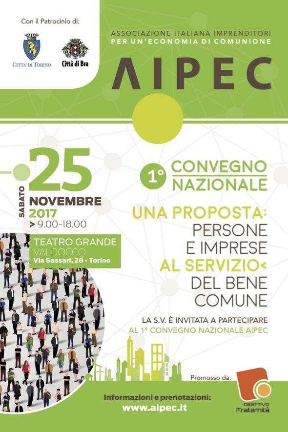 Aipec festeggia i suoi primi cinque anni con un convegno su persone e Imprese al servizio del bene comune.
