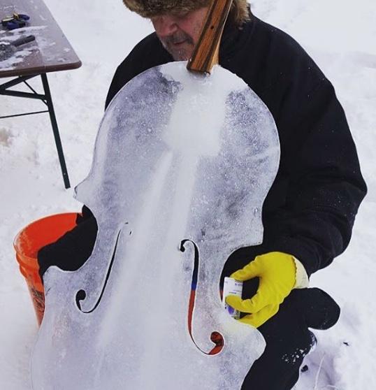 Ice cello: un violoncello di ghiaccio in concerto con  Giovanni Sollima per raccontare il destino dei ghiacciai e la crisi idrica