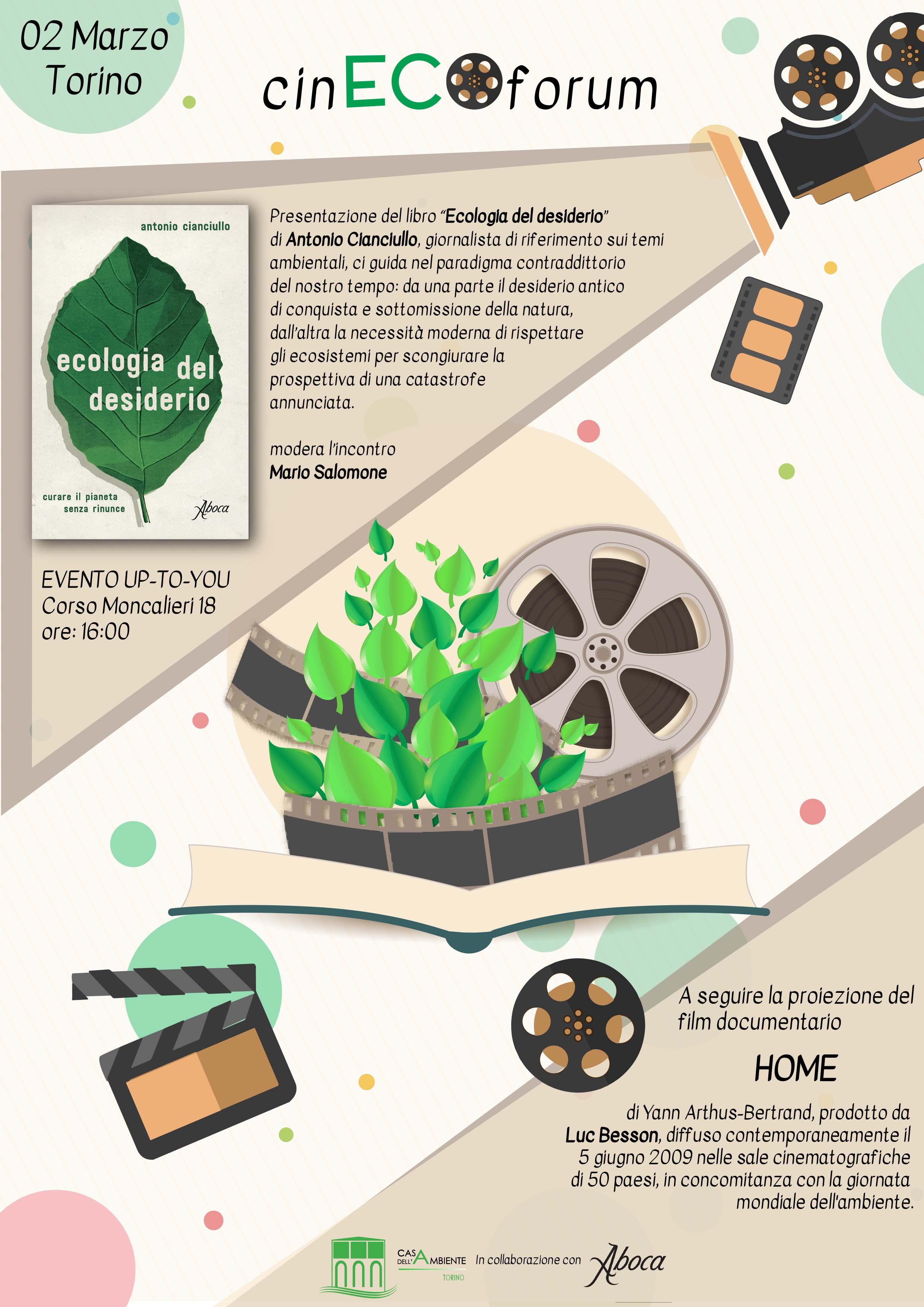 Alla casa dell ambiente di torino partono i cinecoforum for Piani di casa rispettosi dell ambiente