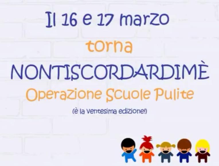 Torna Nontiscordardimé - Operazione scuole pulite 2018