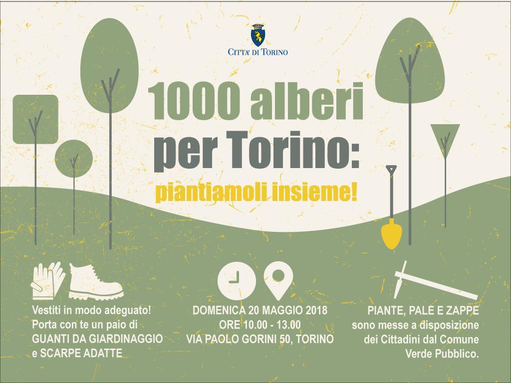 Domenica 20 maggio torna '1000 alberi a Torino'