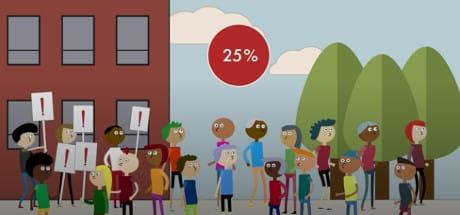 La Massa Crititica per cambiare un atteggiamento si raggiunge al 25% della comunità