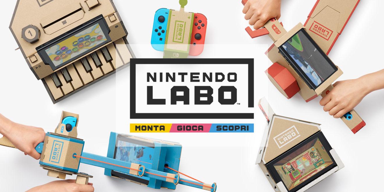 Nintendo Labo: un nuovo modo di giocare costruendo con il cartone gli oggetti
