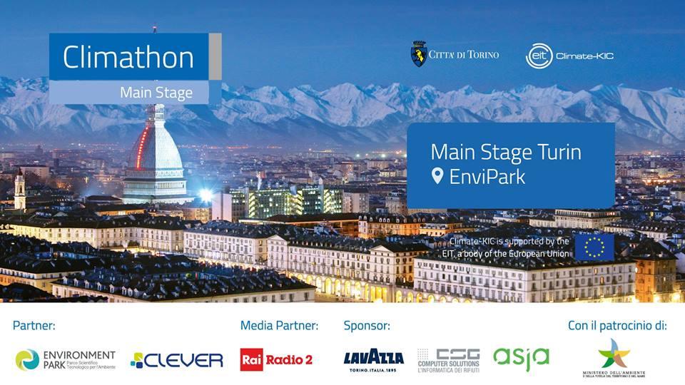 Per la prima volta a Torino il Main Stage di Climathon il 26-27 ottobre