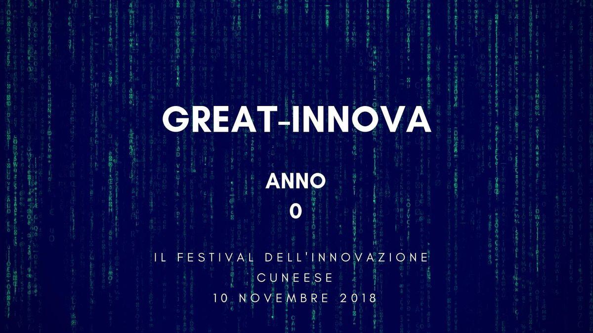GREAT_INNOVA_0, Il numero zero del festival dell'innovazione cuneese a PING il 10 novembre