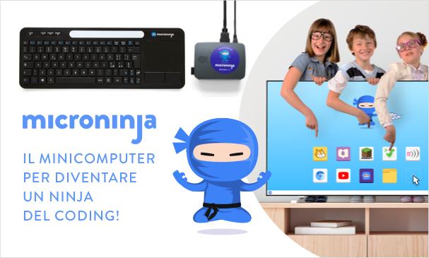 Microninja, il primo computer a misura di bambino per imparare il coding