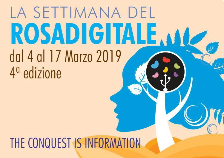 Dal 4 al 17 marzo la settimana del Rosa digitale 2019