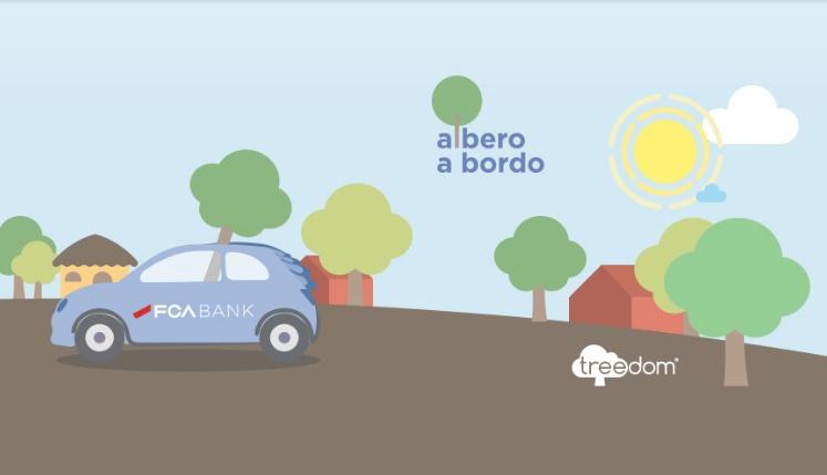 Albero a Bordo – Un albero per chi guida ibrido: Fca Bank fa piantare alberi per ogni automobile ibrida