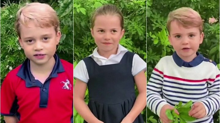 I principi inglesi George, Charlotte e Louis intervistano Sir David Attenborough sugli animali