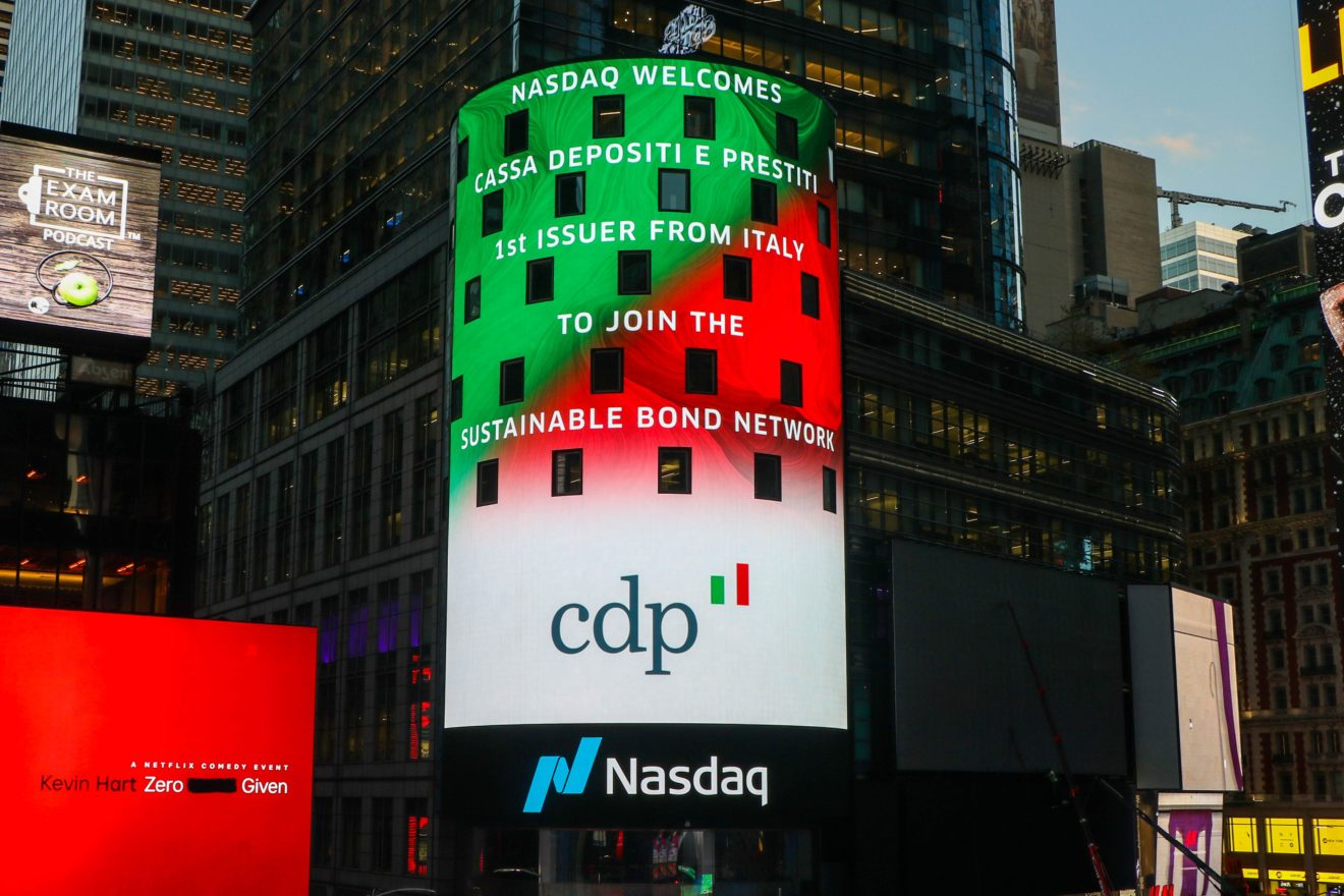 Cassa Depositi e Prestiti prima istituzione finanziaria italiana ad aderire al Nasdaq Sustainable Bond Network