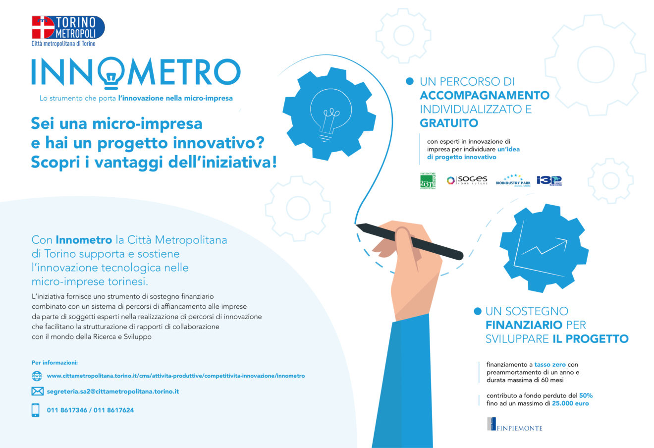 Innometro il percorso di accompagnamento per Imprese della città Metropolitana di Torino