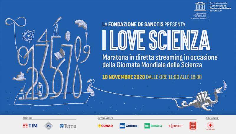 La maratona onlineI Love Scienza per la Giornata mondiale della Scienza