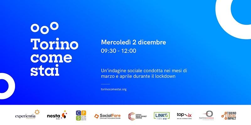 Mercoledì 2 dicembre si presentano i risultati di #TorinoComeStai