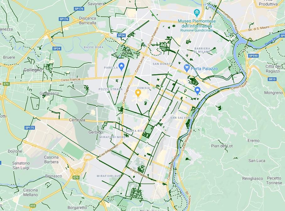 Tutte le mappe e i servizi per muoversi in bicicletta a Torino: ora c'è anche Google Maps