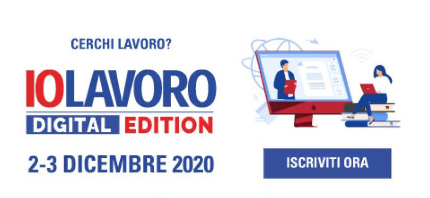 IOLAVORO diventa Digital Edition il 2 e 3 dicembre 2020